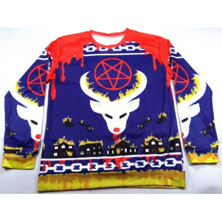 Pentagram reindeer (all-over spandex longsleeve)