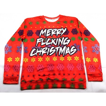 Merry fucking christmas (all-over spandex longsleeve)