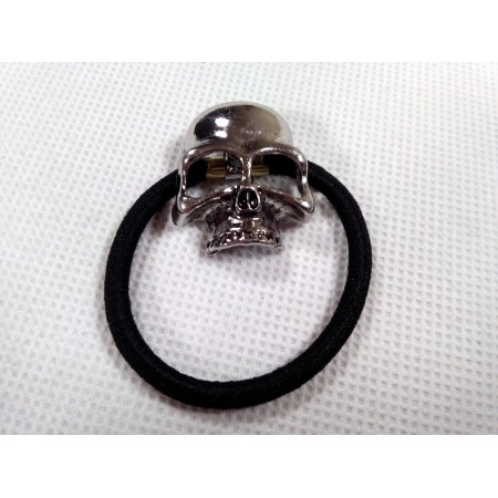 Hair tie with skull