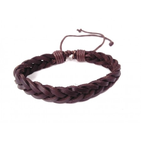 Leather bracelet type 5 (brown)