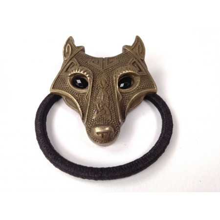 Hair tie with wolf