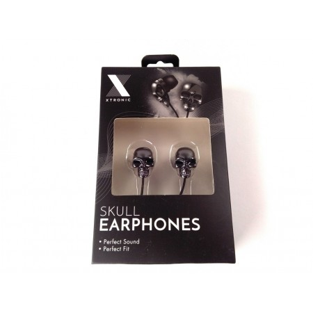 Skull earphones (black)