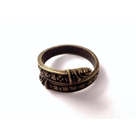 Futhark ring (bronze colored)