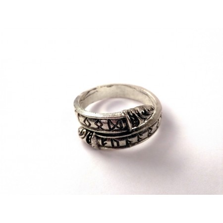 Futhark ring (silver colored)