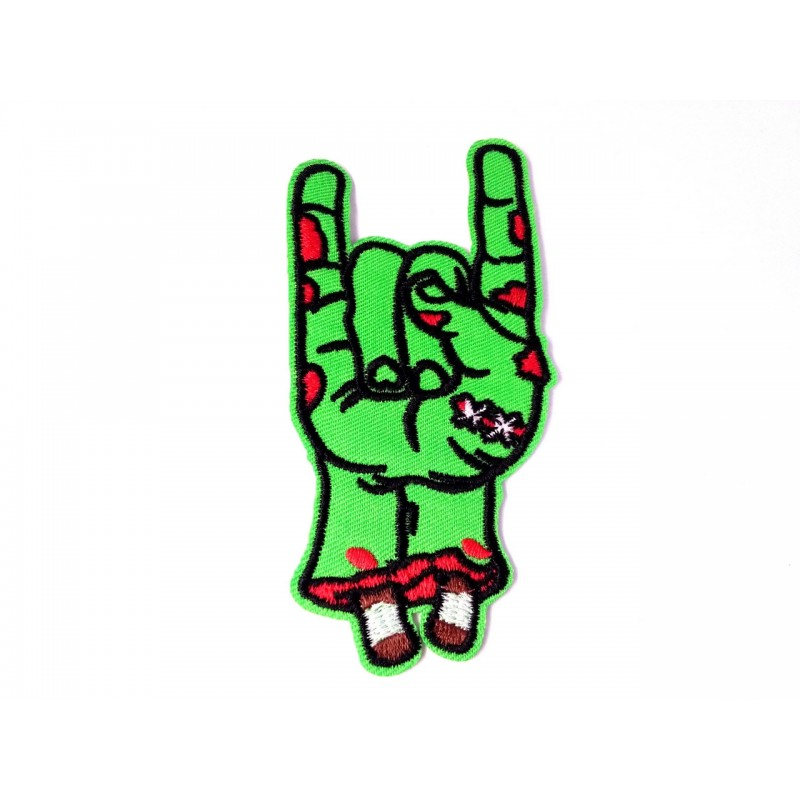 Zombie horns up patch